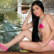Dulce Garcia Pink Thong & Stickers TCG Picture Set 005