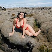 Goddess Alexandra Snow Red Lingerie In Iceland Video 141018 mp4