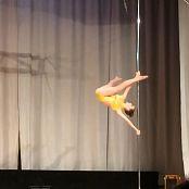 Eva Pole Dance Yellow Leotard HD Video