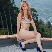 Mary Mendez White Tights & Bikini Top TCG Picture Set 003