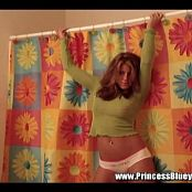 Princessblueyez See Thru Green Mesh Shoot Video