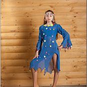TeenModelingTV Arina Blue Ethnic Dress Picture Set