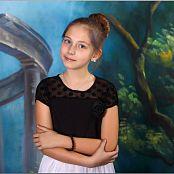TeenModelingTV Alissa White Skirt Black Top Picture Set