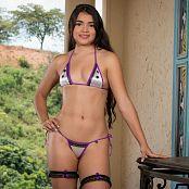 Sofia Sweety Violet and White Bikini NSS Set 036 004