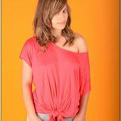 TeenModeling TV Christin Pink Tie Top Pics 3696