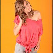 TeenModeling TV Christin Pink Tie Top Pics 3721
