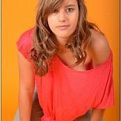 TeenModeling TV Christin Pink Tie Top Pics 3796