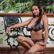 Jasmin Black Lingerie On The Balcony JTM Set 043 jasminteenmodel 043 54
