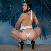 Kim Martinez White V-Cut Lingerie TCG Picture Set 004