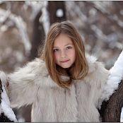 TeenModelingTV Alissa Fur Coat Picture Set