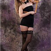 TeenModelingTV Alice Black Tube Dress 007