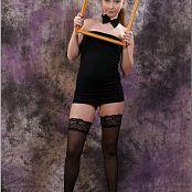 TeenModelingTV Alice Black Tube Dress 011