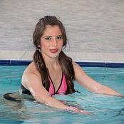 Angie Narango Pink and Black Bikini TM4B Set 008 008