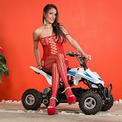Britney Mazo Red Bodysuit TBS Picture Set 043