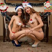 Britney Mazo & Mellany Mazo Christmas Costumes Group 6 TBS Picture Set 006