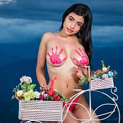 Pamela Martinez Body Paint & Lolipop TCG Picture Set 009
