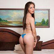Angie Narango Tiny Blue Bikini TM4B Set 005 012