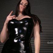 Goddess Alexandra Snow Black Latex Tease HD Video