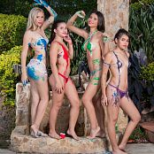 Sofia Sweety Kim Martinez Poli Molina and Tammy Molina Body Paint NSS Set 065 011