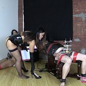 Astrodomina and Lola Edging Game for Chastity Slave 050419 wmv